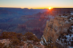 Arizona, Grand Canyon National Park, South Rim, Maricopa Point, view of the canyon, sunrise
