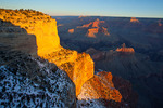 Arizona, Grand Canyon National Park, South Rim, Maricopa Point, view of the canyon in first light