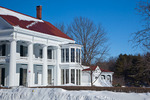 Maine, Kennebunkport, historic Nott House, 1853, after big snow storm