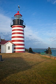 Maine, Quoddy Head State Park, West Quoddy Head Lighthouse