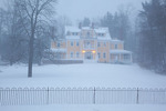 Maine, York Harbor, York Harbor Inn/Chapman Cottage in record snow storm/blizzard of February 2013