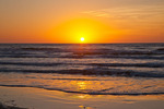 Texas, Padre Island National Seashore, sunrise on the beach