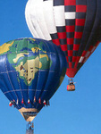 Hot-air Balloon with World Map
