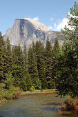 Half Dome with Merced River, Yosemite National Park, CA