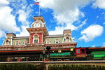 Fantasy Train at Disney World Main Entrance, Orlando FL Walt Disney created a magical world with his characters of fantasy. The daily parade at Disney World, Orlando Florida is an exciting moment for kids and adults alike, as they encounter characters whom they've only imagined. The realistic portrayal, music, costuming and performance by the actors/players enhances the crowds' enjoyment!