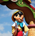 Pinocchio Dances for Crowds! Walt Disney created a magical world with his characters of fantasy. The daily parade at Disney World, Orlando Florida is an exciting moment for kids and adults alike, as they encounter characters whom they've only imagined. The realistic portrayal, music, costuming and performance by the actors/players enhances the crowds' enjoyment!