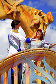 Walt Disney created a magical world with his characters of fantasy. The daily parade at Disney World, Orlando Florida is an exciting moment for kids and adults alike, as they encounter characters whom they've only imagined. The realistic portrayal, music, costuming and performance by the actors/players enhances the crowds' enjoyment!