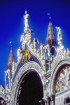 Basilica San Marco, Venice, Italy.  Detail of the roofline
