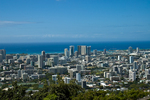 View of downtown Honolulu from Mt. Tantalus.