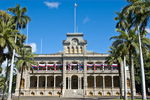 Iolani Palace is the only royal palace in the United States.  Under the direction of King David Kalakaua, it was constructed between 1879 and 1882.  It has been restored to its former glory.