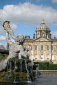 "Castle Howard is in Yorkshire.  It is known for its baroque architecture and neo classical landscape.  The TV series ""Brideshead Revisited"" was filmed here. Sir John Vanbrugh was the architect, and it took from 1661 to 1736 for the palace to be built."