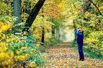 Birdwatcher - in autumn