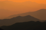 Smoky Mountains from Clingmans Dome tower.