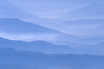 Fog over mountains, looking towards Bryson City from Clingman's Dome.