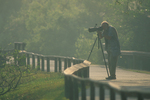 Photographer along Anhinga Trail.
