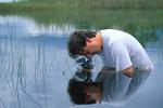 Michael Turco photographing underwater.