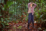 Lisa Paciulli looking for pig-tailed langurs.