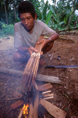 Pak Alec dries poison which was applied to arrow tips.