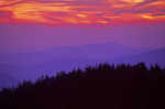 Sunset from Clingman's Dome, Great Smoky Mountains National Park, Tennessee