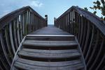 Foot bridge to Atlantic coast beach