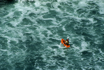 Sea Kayaker in Pacific Ocean