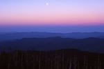 Moon rise at Clingmans Dome