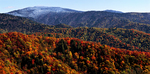 Panoramic Autumn landscape from Newfound Gap Road.