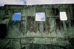 Stone carved windows at Machu Picchu