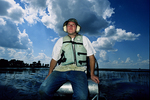 Research assistant Greg Kaufman on an airboat_Turco_c_2013