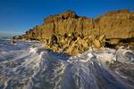 Limestone and Atlantic Ocean at sunrise, Blowing Rocks Preserve