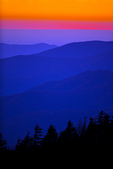 View of sunset from Clingmans Dome