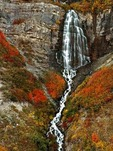 Bridal Falls in Provo Canyon rendes itself more spectacular in autumn when adorned with the beautiful fall foliage of oak and maple.