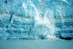 The Hubbard Glacier is a large tidewater glacier that calves frequently. Advancing Glacier.  Wrangell-St. Elias National Park, Alaska. 