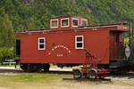 Caboose train car of the White Pass & Yukon Route, Skagway, AK, Alaska, USA