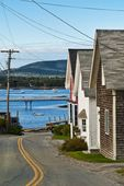 Seaside village, Bass Harbor, Maine, ME, USA