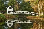 Footbridge, Somesville, Maine, ME, USA