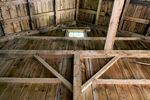 Interior of a barn.