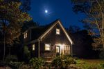Cozy bungalow at night., Martha's Vineyard, Massachusetts, USA