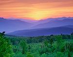 Sunrise Over Mount Washington and White Mountains