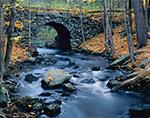 Keystone Bridge in Fall, Middle Branch Swift River, Quabbin Reservation, New Salem, MA