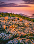 First Light in USA, Cadillac Mountain, Acadia National Park, Mt Desert Island, Bar Harbor, ME