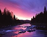 Predawn on Swift Diamond River, Great North Woods