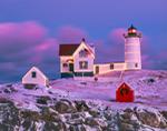 Holiday Lights at Nubble Light (Cape Neddick Light), Cape Neddick, York, ME