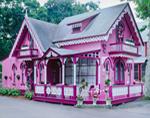 Pink Gingerbread House, Martha's Vineyard, Oak Bluffs, MA