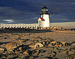 Brant Point Light with Rocks in Foreground