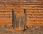 Tobacco Barn with Red Clay Chinking