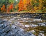 Taughannock Creek in Fall, Finger Lakes Region, Taughannock Falls State Park, Ulysses, NY