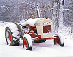Tractor Laden with Snow