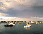 Clouds and Late Light, Sakonnet Point Harbor
