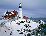 Portland Head Light in Winter